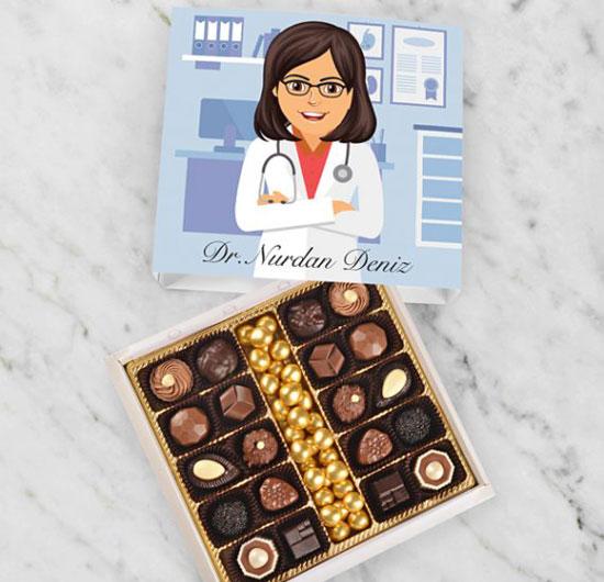 Kişiye Özel Doktor Çikolatası Bayan