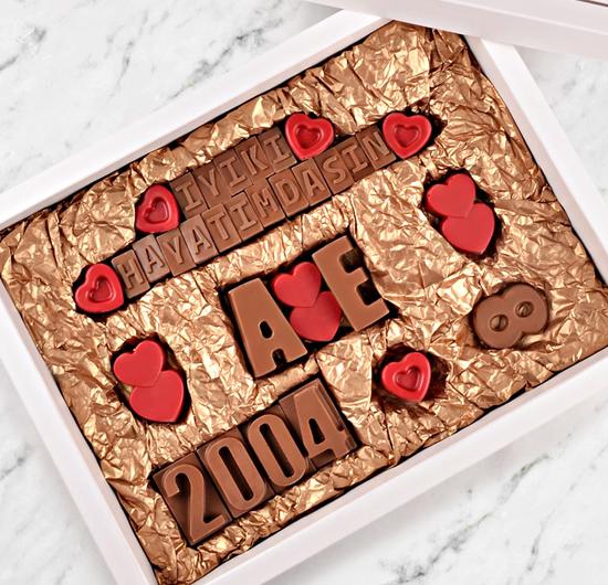 Kişiye Özel Yıl Dönümü Çikolatası