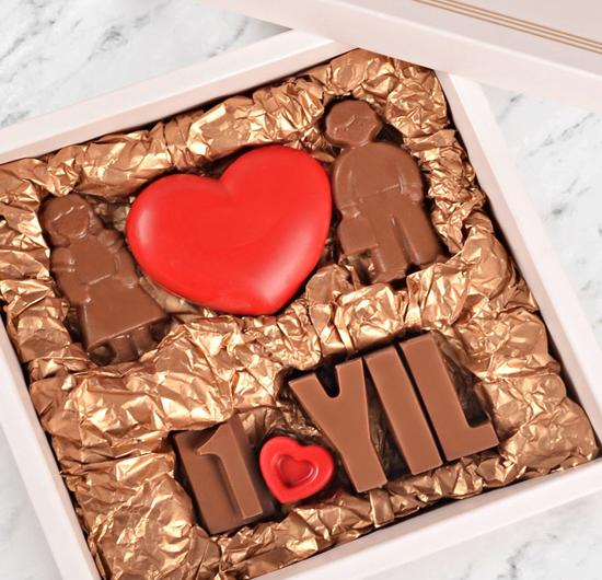 Aşka Özel Yıl Dönümü Çikolatası
