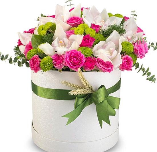 Cümbüş Renkli Kutuda Çiçekler