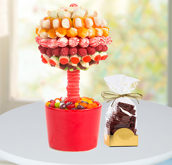Rengarenk Jelibon Ağacı Ve Çikolata Paketi