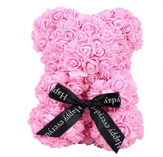 Teddy Rose Bear Pembe Ayı